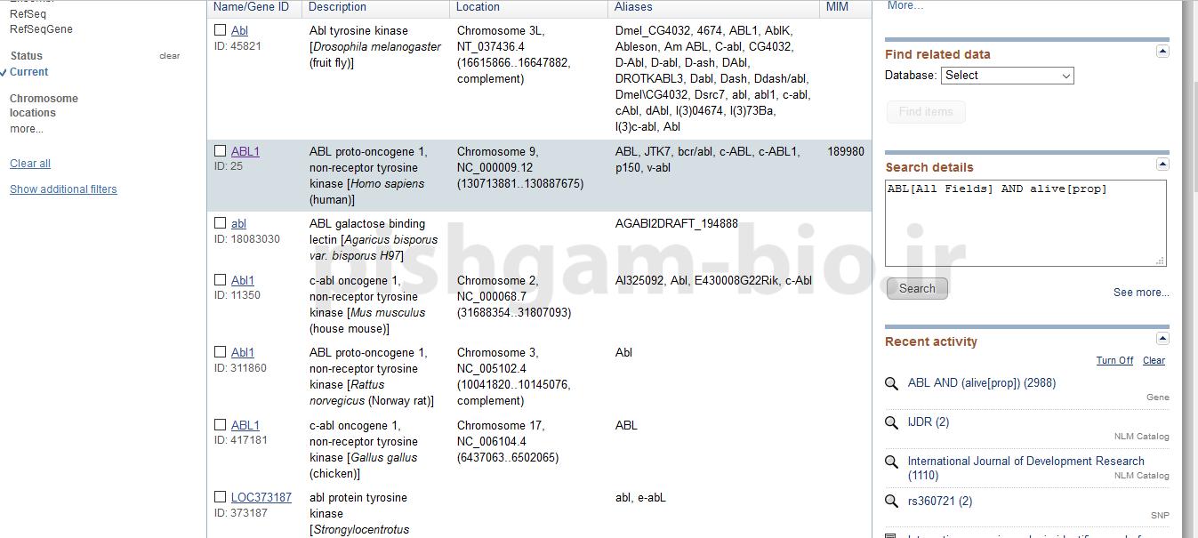 آموزش طراحی پرایمر قسمت اول: آموزش NCBI جهت یافتن توالی ژن در NCBI